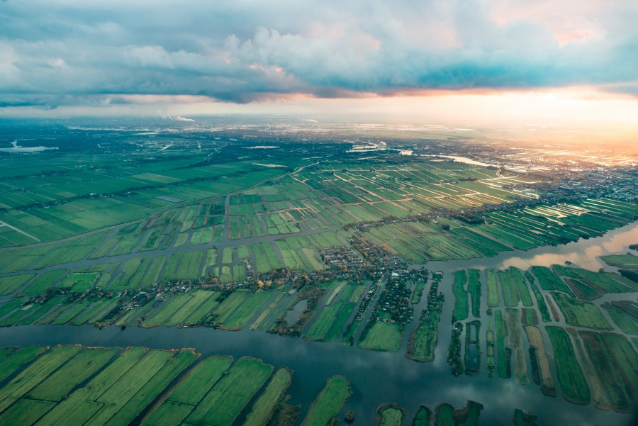 The Netherlands from above