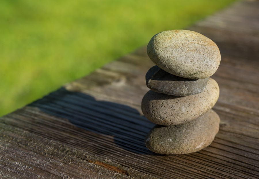 Stacked little rocks