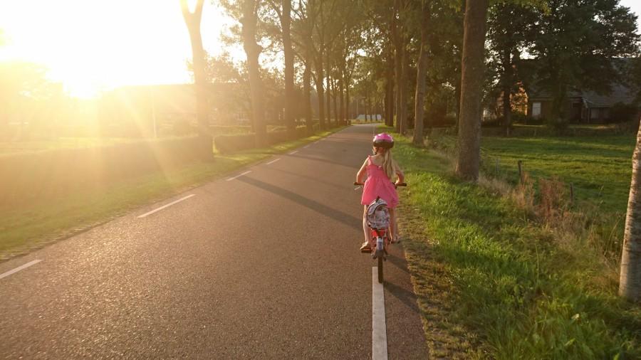 Biking to school is cool
