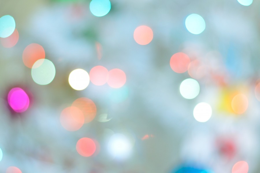 Blue christmas bokeh