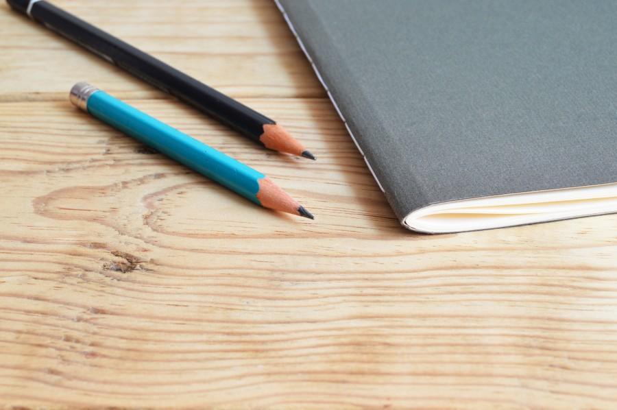 Sketchbook and pencils