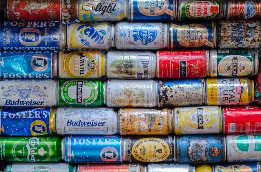 Cans from the sea