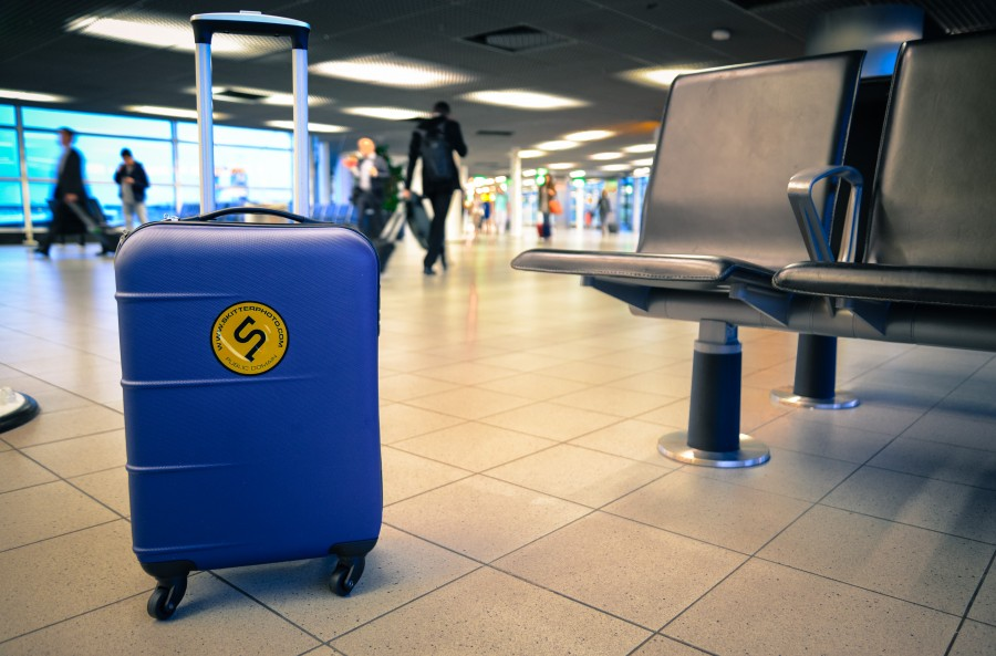 Trolley at the airport