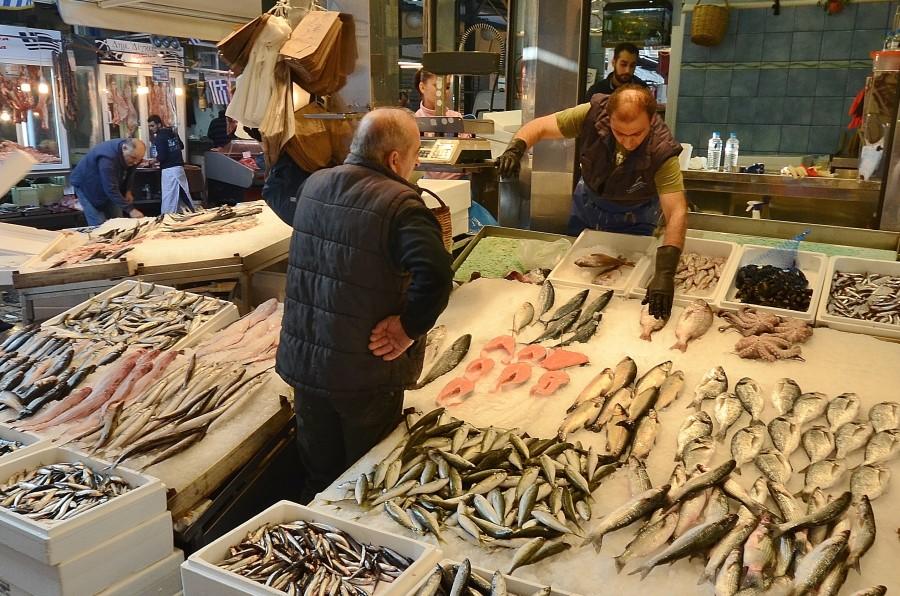 Greek fish shop
