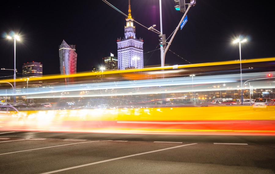 Traffic in Warsaw