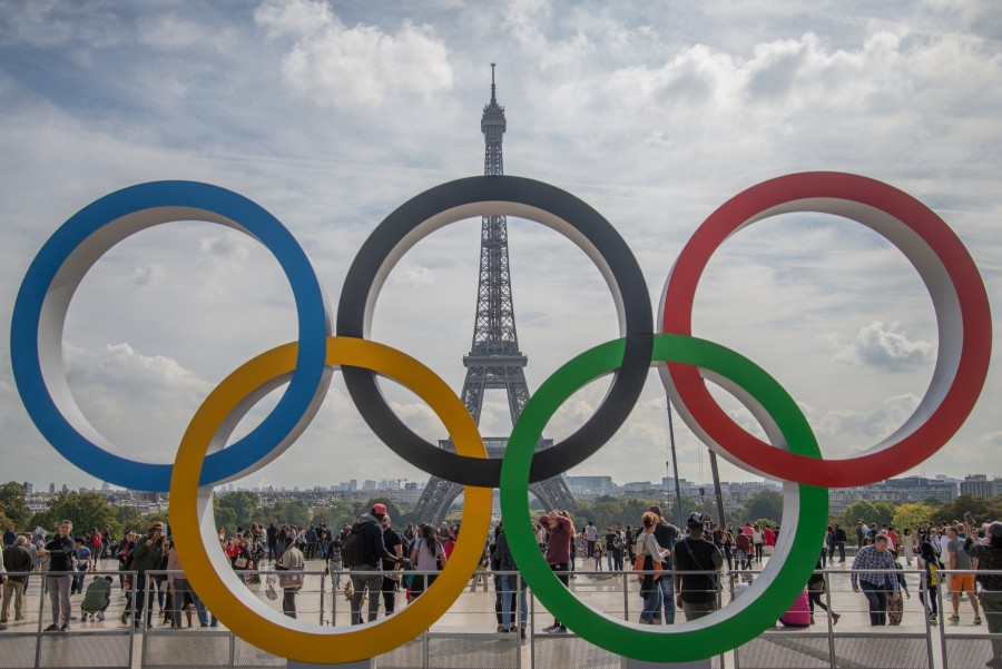 Olympic rings in Paris