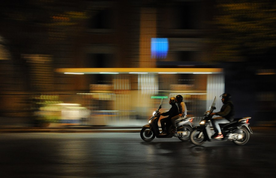 Scooters in the night
