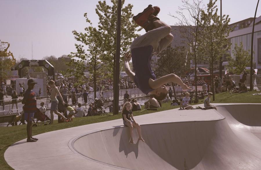 Skating salto