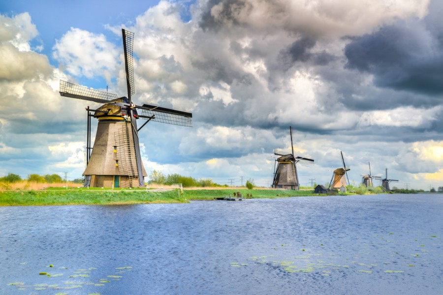 Dutch mills at Kinderdijk