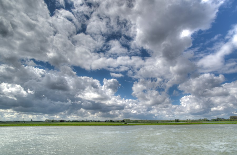 River with clouds