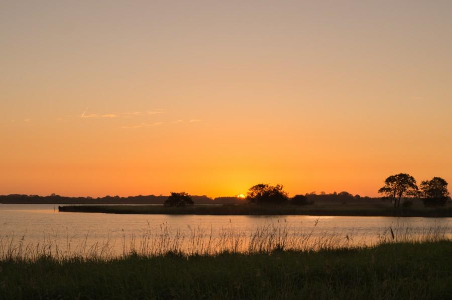 Beautiful landscape at sunrise