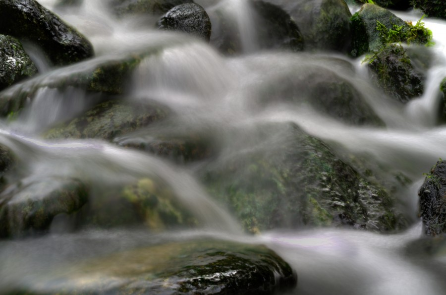 Soft flow of a waterfall