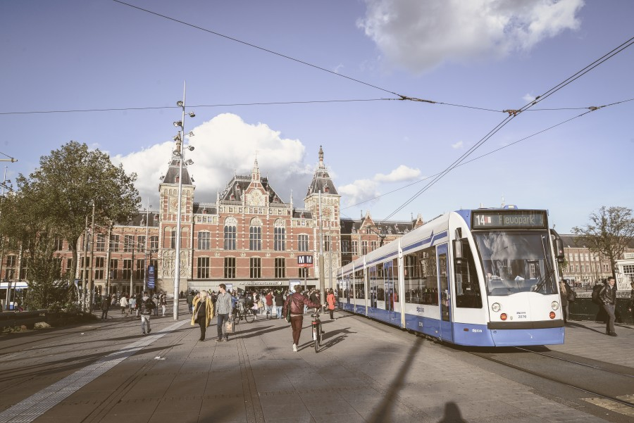 Tram at Amsterdam central