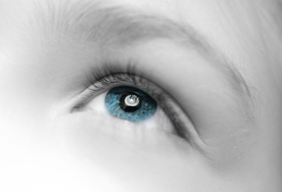 Girls eye closeup