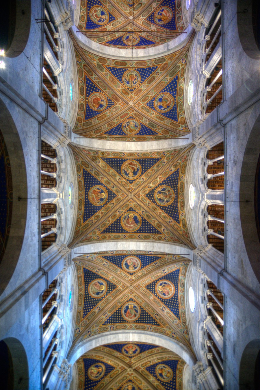 Church ceiling in Lucca