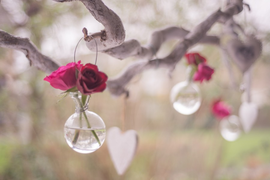 Bottle of roses