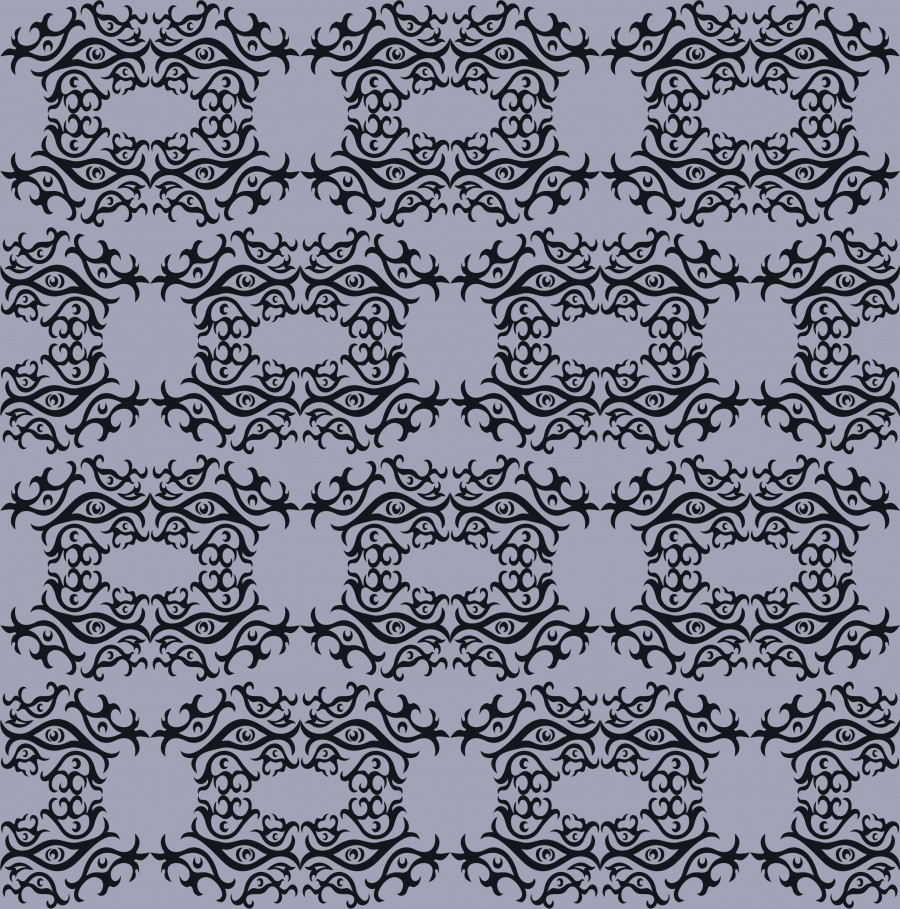 Abstract gray seamles pattern with eyes.