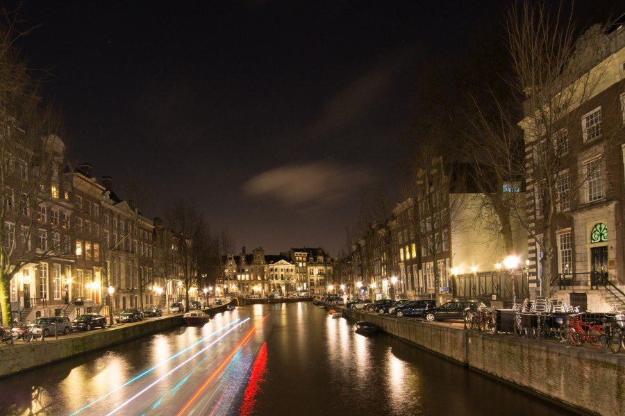 Long exposure canal Amsterdam